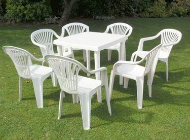 sedia giardino pvc