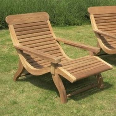 sedia giardino legno