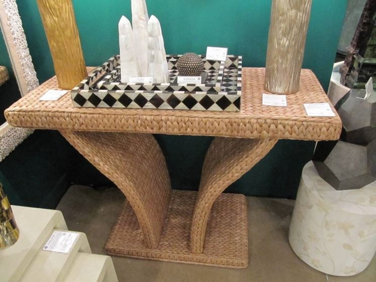tavolo esterno fibre naturali