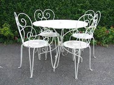 Tavoli da giardino in ferro battuto mobili da giardino le