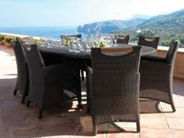 tavolo e sedie vimini