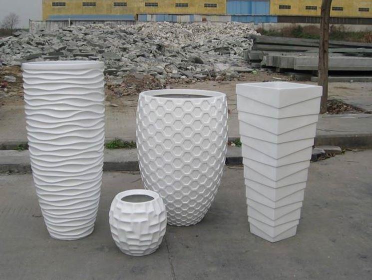 Vasi in vetroresina vasi for Vasi moderni da interno