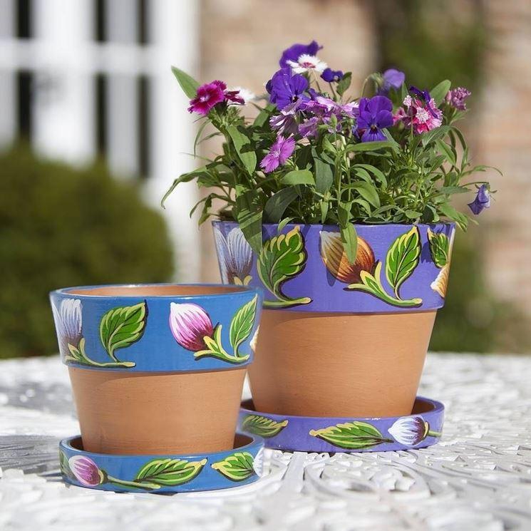 Vasi per piante decorati