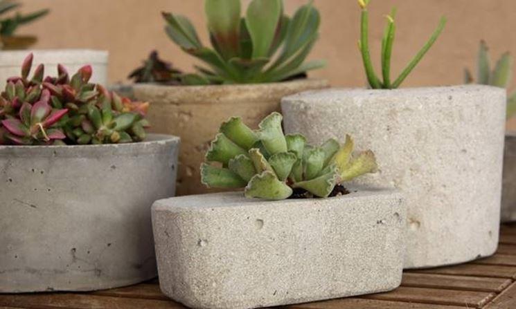 vasi piante cemento