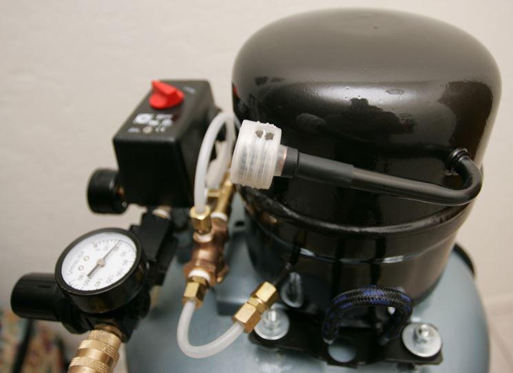 filtro aria di un compressore silenziato