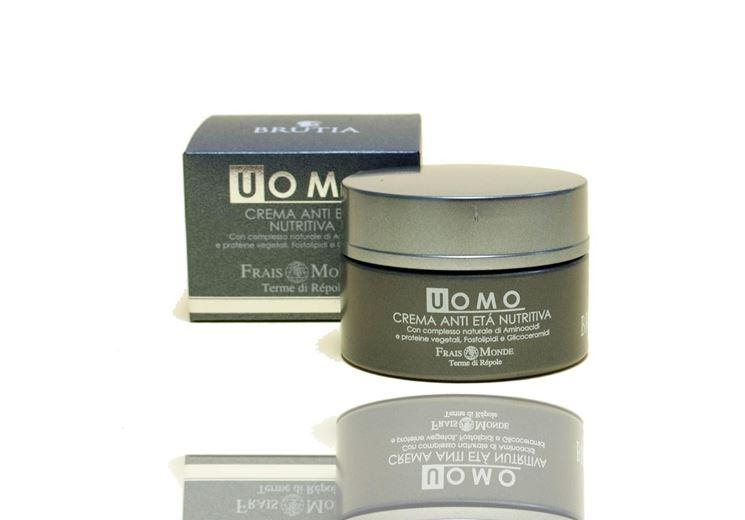 Confezione di crema viso anti età per uomo