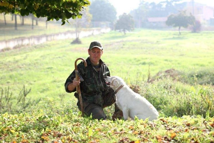 Un trifolao e il suo cane