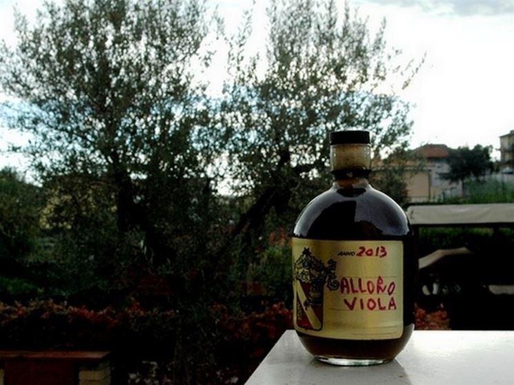 Liquore laurino fatto con le bacche di alloro