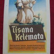 Una pubblicit� della tisana Kelemata degli anni '40