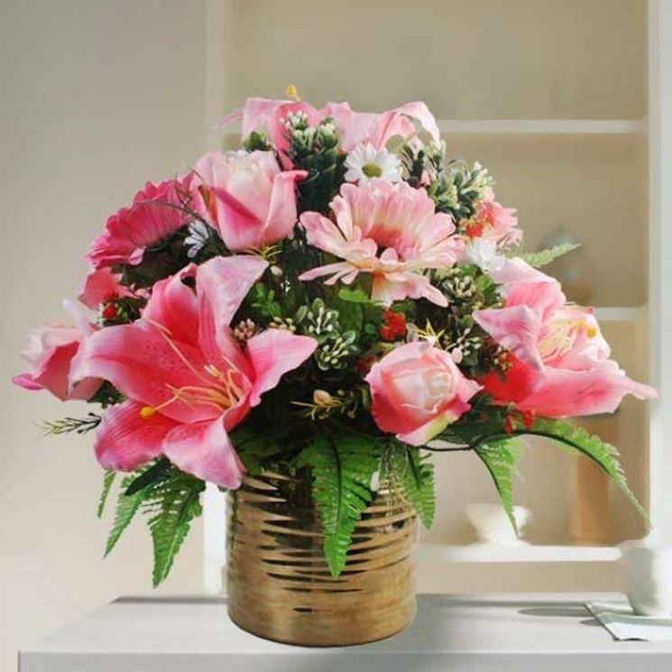 Composizioni floreali artificiali composizione di fiori - Decorazioni fiori finti ...