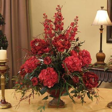 composizione floreale fiori finti