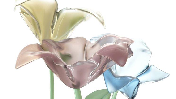 fiori di vetro per bombonienre