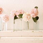 composizioni floreali in vasi trasparenti