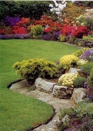 Giardino roccioso composizione fiori for Piccoli giardini ornamentali