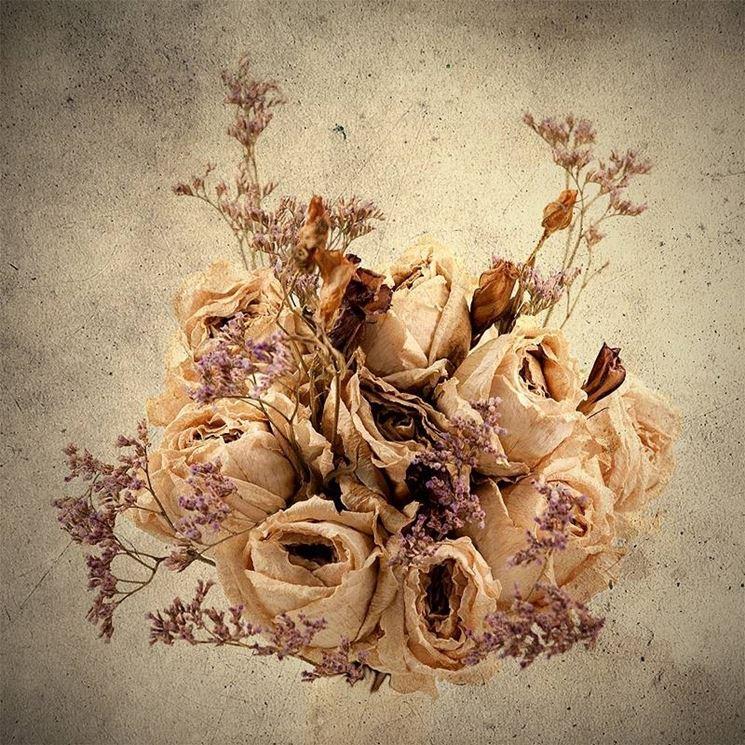 Fiori finti per vasi moderni : Quadri fiori secchi composizione