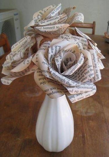 fiori carta riciclata