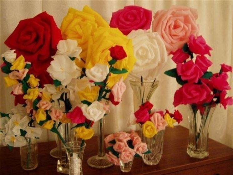 fiori di carta crespa
