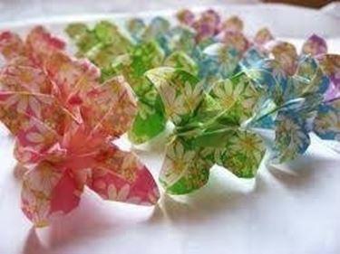 fiori carta origami