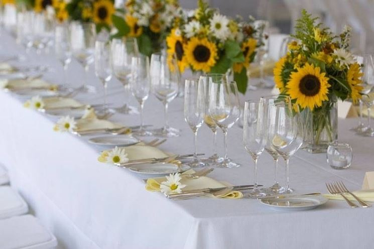 Tavolo Matrimonio Girasoli : Fiori matrimonio agosto fiorista