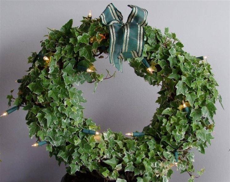 Addobbo natalizio di edera