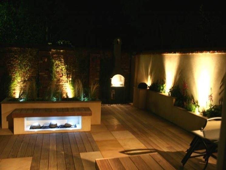 Illuminazione Terrazzo Fai Da Te: Lampada parete lanterna applique nera illuminazione luce giardino.