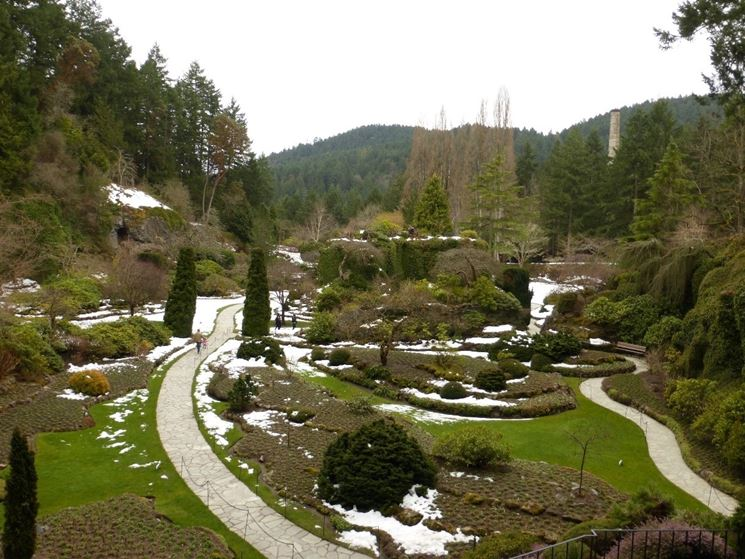 giardino a febbraio