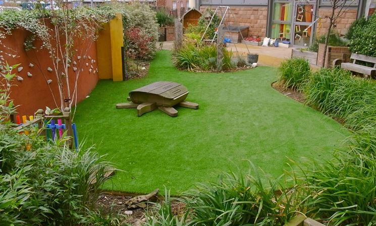 Erba sintetica per giardini prato - Erba nana per giardino ...