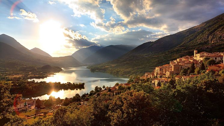 Parco nazionale del'Abruzzo in Italia