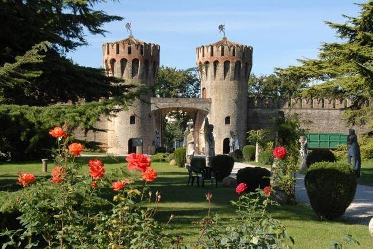 La facciata del Castello di Roncade