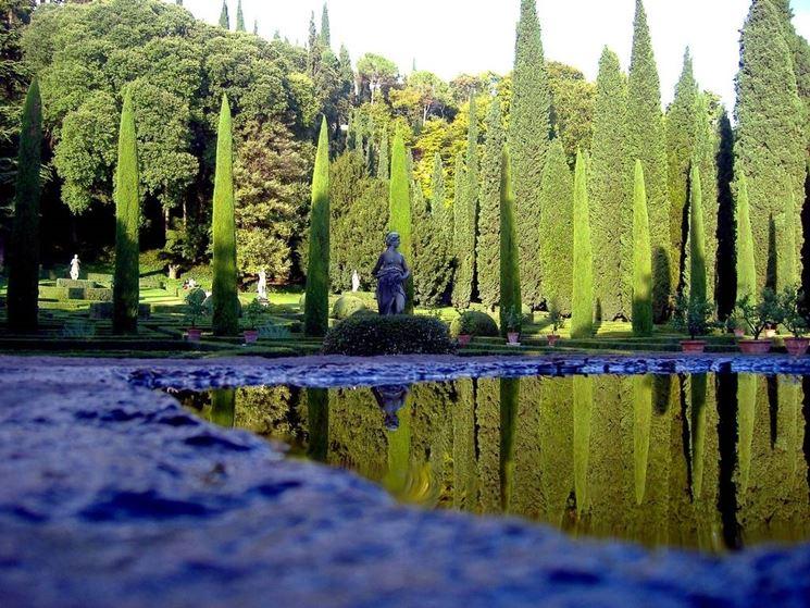 Giardino Giusti, specchio d'acqua.