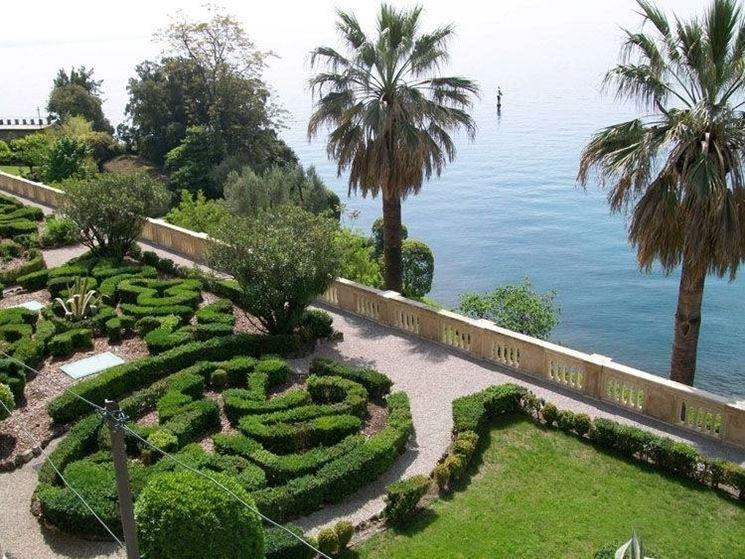 Vista sui giardini dell'isola