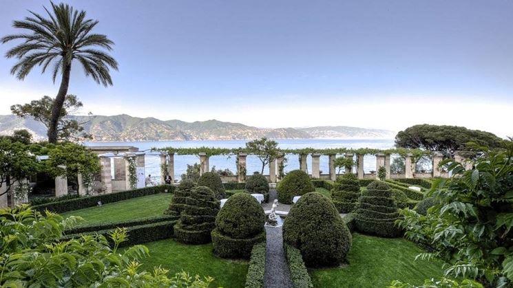 Una terrazza sul mare del complesso de La Cervara
