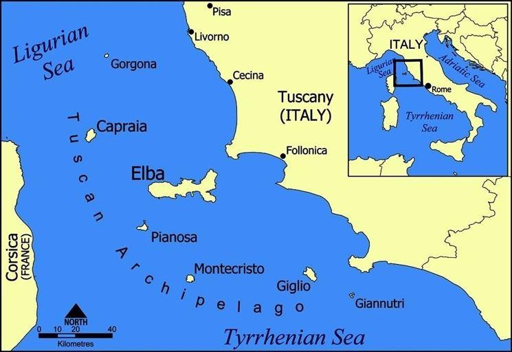 Mappa dell'arcipelago