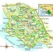 Cartina del Parco del Cilento