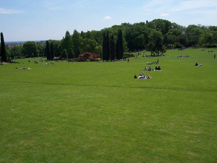 Turisti in sosta nel parco