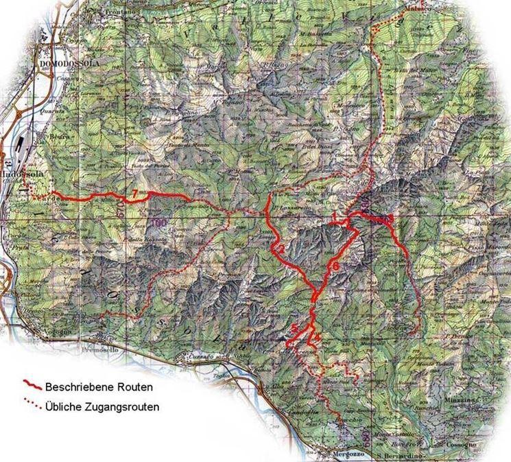 Mappa del Parco Val Grande