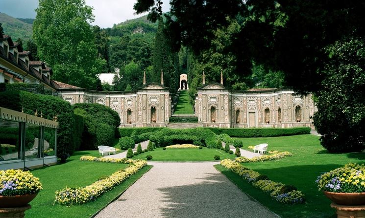 Vista sul parco di villa d'Este
