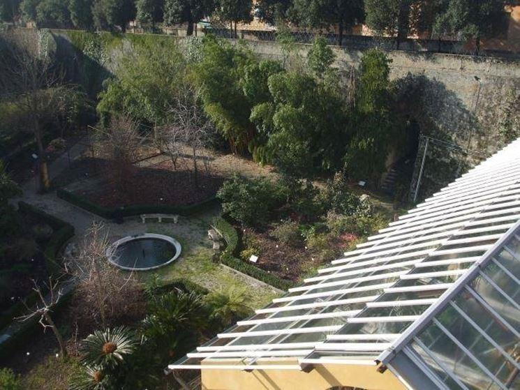 Uno scorcio del giardino botanico