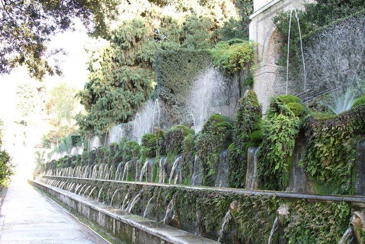 Particolare delle cento fontane.
