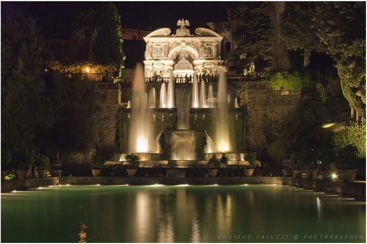 Villa d'Este di notte.