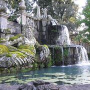 Vista sui giardini di villa Lante