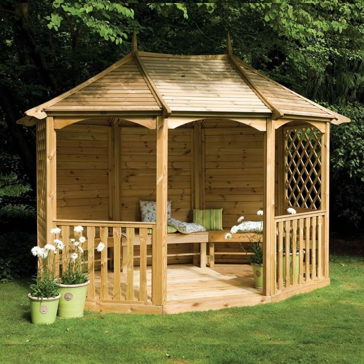 Gazebo in legno da giardino gazebo for Gazebo in legno usato