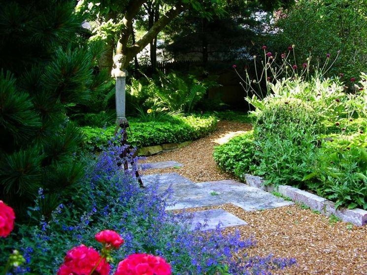 ghiaia in giardino