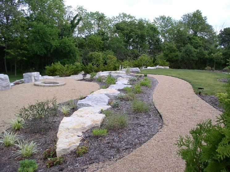 Giardini con ghiaia colorata nb27 pineglen for Sassi piatti per giardino