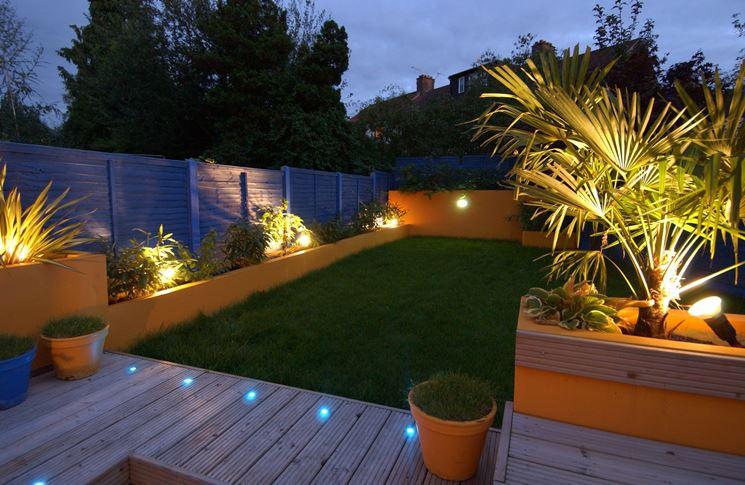 giardino illuminato