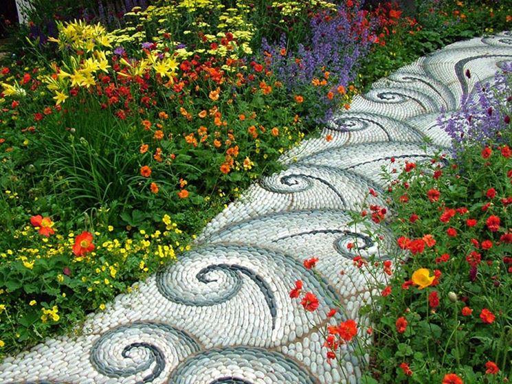 particolare vialetto da giardino
