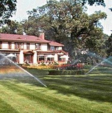 Giardino con irrigazione
