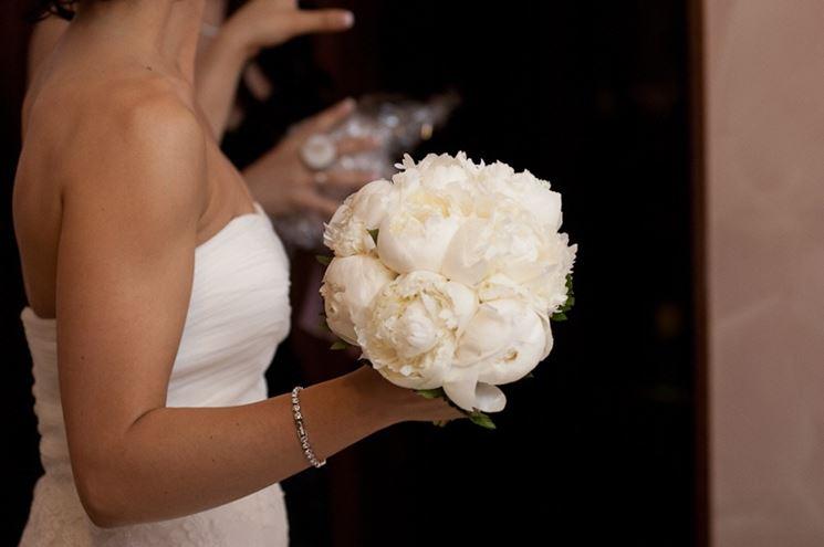 Bellissimo bouquet di peonie