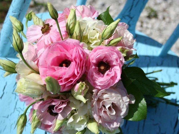 Bouquet fiori lisianthus
