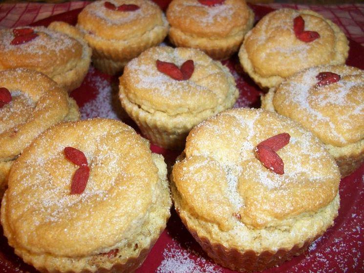 Muffin alle bacche di goji